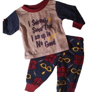 New Boys girls Harry Potter 6/9 mth pajama set